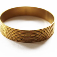 Chunky Gold Bracelet - Chunky Gold Bangle Bracelet - Wide Gold Bracelet