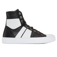 Indie Designs Black & White Sunset High-Top Sneakers
