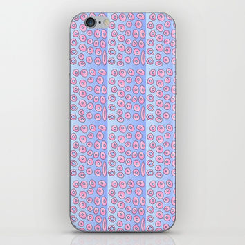 pink polka dot 2- polka dot,pattern,dot,polka,circle,disc,point,abstract,minimalism iPhone Skin by oldking