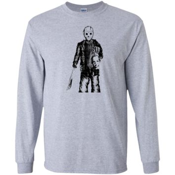 jason vs michael myers sticker halloween T-Shirt