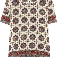 Madewell - Printed silk crepe de chine top