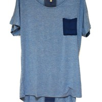 Slouchy Tee with Chiffon Trim - Browse All - Apparel