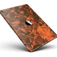 """Orange Abstract Geometric Triangles Full Body Skin for the iPad Pro (12.9"""" or 9.7"""" available)"""