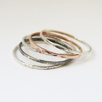 Set of 5 of Mixed Super Thin Stacking Rings by Sirrý Design