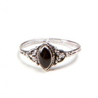 Brandy ♥ Melville    Victorian Style Black Ring - Jewelry - Accessories
