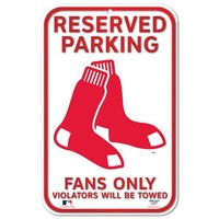MLB Boston Red Sox 11-by-17 inch Sign-Socks