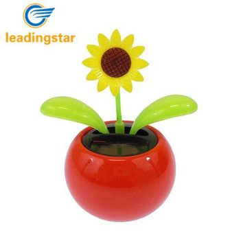 LeadingStar Solar Toy Mini Dancing Flower  Sunflower Great as Gift or Decoration Ship in Random Color zk25