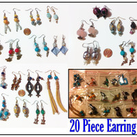 20+ Assorted Earrings, Party Favors, Gift Ideas, Stocking Stuffers, Beaded Jewelry, Bulk Earrings, Assorted Earrings, Bridesmaid Gifts,