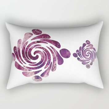 Abstract painting purple Rectangular Pillow by VanessaGF