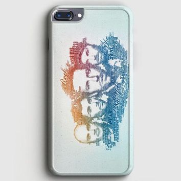 Coldplay Faces Lyrics Design iPhone 8 Plus Case | casescraft
