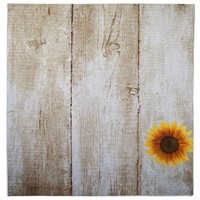 Rustic Country Custom Wedding Wood & Sunflowers Napkins