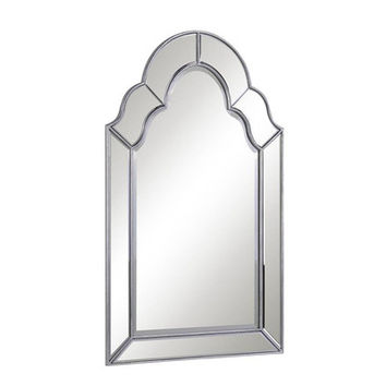 Elegant Lighting Antique Silver Arch/Crowned top Wall Mirror & Reviews | Wayfair