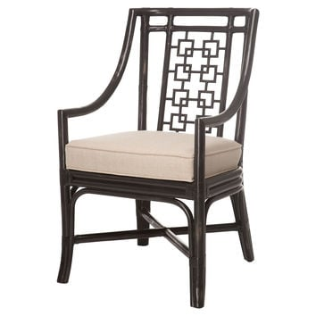 Palm Springs Armchair, Black/Beige, Arm Chairs
