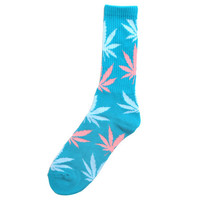 Plantlife Crew Socks Turquoise / Light Blue / Pink