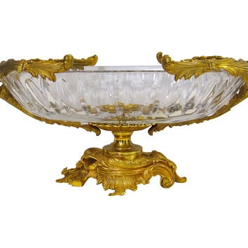 Doré Bronze & Crystal Centerpiece