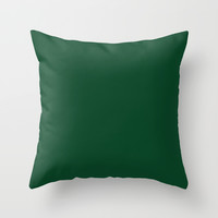 Forest Green Throw Pillow by Beautiful Homes