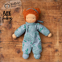 Waldorf Elf Doll - Waldorf doll - Elf -Waldorftoy - Waldorf - girl doll - curly red hair