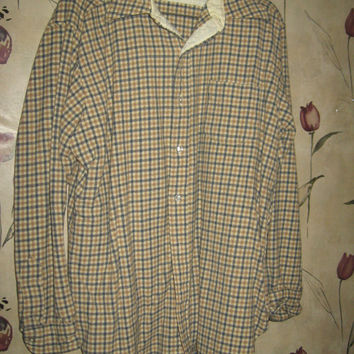 vINTAGE virgin wool mens plaid shirt by Pendleton sz xlarge