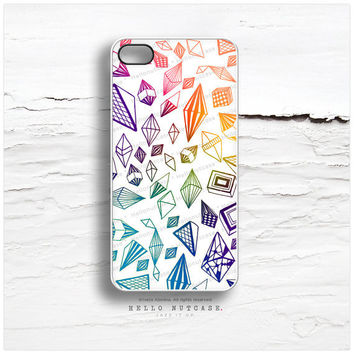 iPhone 4 and iPhone 4S case Geometric Crystals Diamonds, Crystal iPhone Cover, Geometric iPhone Case, Diamond iPhone 4 cover C64