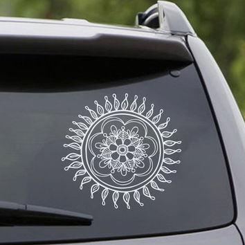 Mandala Car Decal Wall Decals Lotus Stickers Indian Yoga Studio Vinyl Decals Art Mural Home Interior Design Bohemian Bedroom Decor KI58
