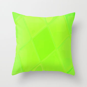 Re-Created Mirrored SQ LXXXIX Throw Pillow by Robert S. Lee