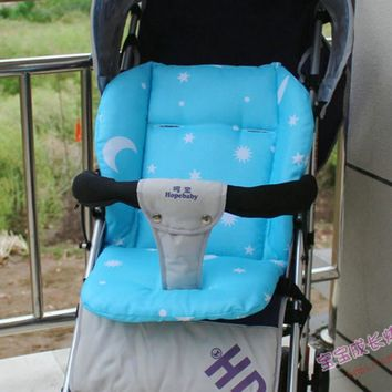 Baby Stroller Seat Cushion Baby Stroller Pad Print Soft Thick Cover Pram Pushchair Mattress for Infant Carriage Dining Chair