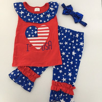 In Stock - I love the USA capri set
