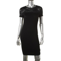 Vince Camuto Womens Knee-Length Lace Casual Dress