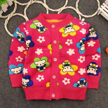 2017 New Clothing for Baby Girl Cardigan Sweater Autumn Baby Clothing Wear Coat Infant Girls Winter Clothes Toddler 0-2years