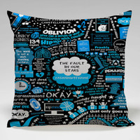 the fault in our star black Square Pillow Case Custom Zippered Pillow Case one side and two side