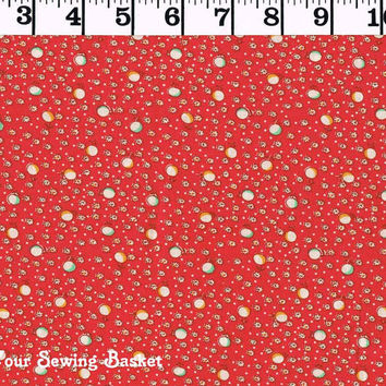 Red Cotton Chintz Fabric, 1930 Vintage Cotton Print, Quilters Cotton Fabric,StoryBook VI Windham Fabrics, Quilters Fabric