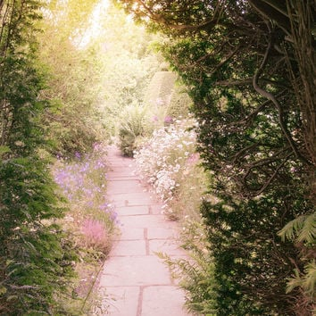 Nature Photography - The Secret Garden, Travel Landscape Photograph, Magical Garden in England, Wall Decor
