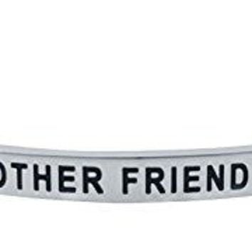 Sister Bracelet THERE IS NO OTHER FRIEND LIKE A SISTER I LOVE YOU SIS Mantra Positive Message Engraved Cuff Bangle for Women amp Teen Girls