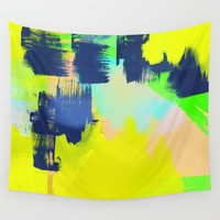 Yellow and More Wall Tapestry by Sagacious Design