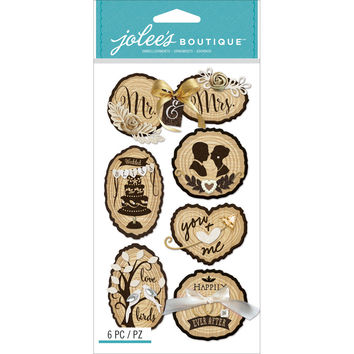 Jolee's Boutique Dimensional Stickers-Wedding Icons