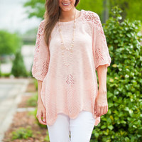 Light And Airy Top, Blush