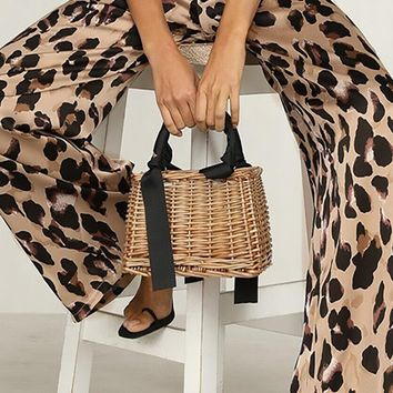 Going Big Cheetah Print Animal Pattern Elastic Waist Wide Leg Loose Palazzo Pants