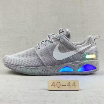 NiKE ROSHE RUN AIR MAG RUN Fashion Men Sport Casual Shoes Sneakers Grey