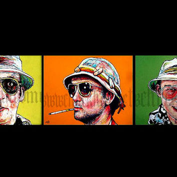 "Prints 8x10"" -  Dr. Gonzo Series - Hunter S Thompson Bill Murray Johnny Depp Las Vegas Drugs Acid Journalism Rum Diaries"