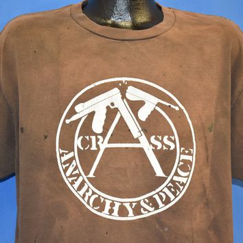 90s Crass Anarchy & Peace Bloody Revolutions t-shirt Large
