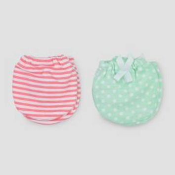 Baby Girls' 2pk Mittens - Just One You® made by carter's Pink/Mint NB