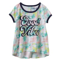Mudd ''Good Vibes'' Ringer Tee - Girls 7-16
