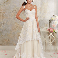 Alfred Angelo 8535 Lace Detachable A-Line Wedding Dress