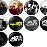 Arctic Monkeys Pinback Buttons Badges/Pin 1 Inch (25mm) Set of 10 New
