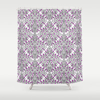 Damask Nature Pink Shower Curtain by Alice Gosling | Society6