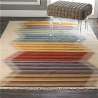 Rainbow Kilim Flatweave Rug - Shades of Light