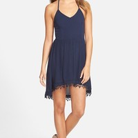 Junior Women's jella c. Gauze Halter Skater Dress