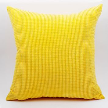 GGGGGO HOME Corduroy fabric cushion cover 40x40cm/45x45cm/50x50cm/55x55cm/60x60cm/70x70cm decorative pillow covers for sofa