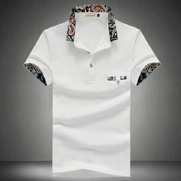 Floral Collar Men POLO Shirts