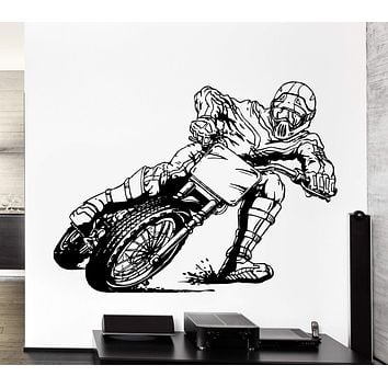 Wall Decal Extreme Sports Motorcycle Racing Speed Biker Vinyl Decal Unique Gift (ed393)